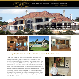 Waco Website Design - Luther Fore Builders