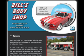 Bill's Body Shop | Valley Mills, Texas