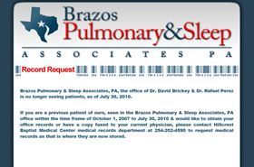Brazos Pulmonary & Sleep Center - Waco, Texas
