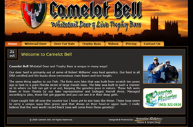 Camelot Bell Whitetail Deer & Live Trophy Bass