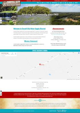 Coryell City Water Supply District Website