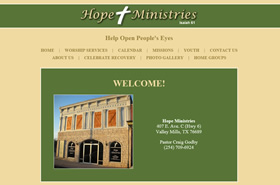 Hope Ministries Church | Valley Mills, Texas